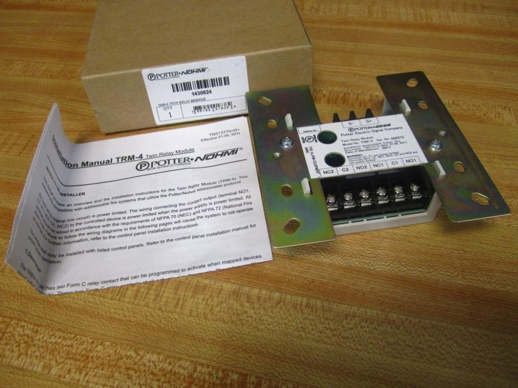 Potter Electric 1430824 TRM-4 Twin Relay Module: Amazon com