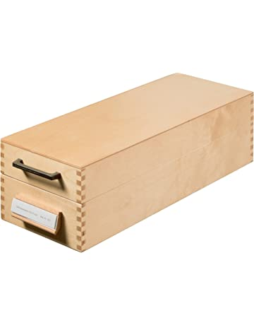 Han-Bürogeräte 1007 - Archivador de fichas tamaño A7 color madera