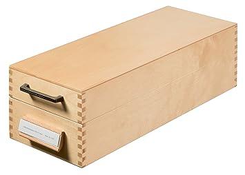 Han-Bürogeräte 1007 - Archivador de fichas tamaño A7 color madera: Amazon.es: Oficina y papelería