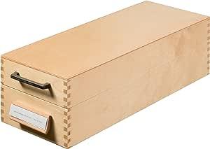 Han-Bürogeräte 1007 - Archivador de fichas tamaño A7 color madera ...
