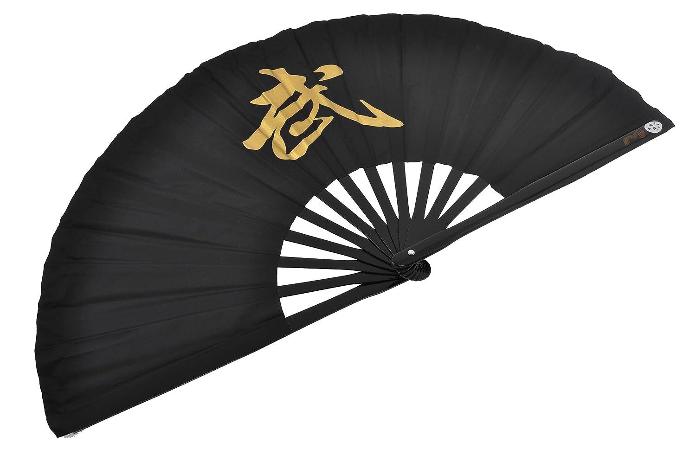 Éventail Tai Chi (Tai Ji Shan) «Wu» - Droitier, Noir ShenLong