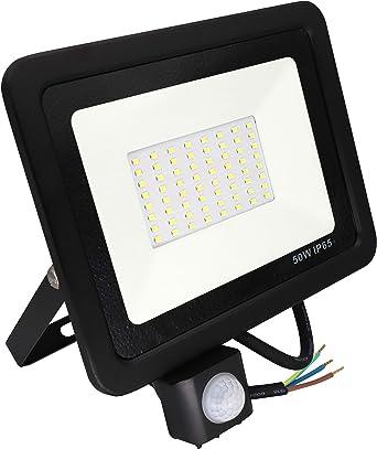 Popp Foco con Sensor Movimiento Proyector LED Exterior Iluminación ...
