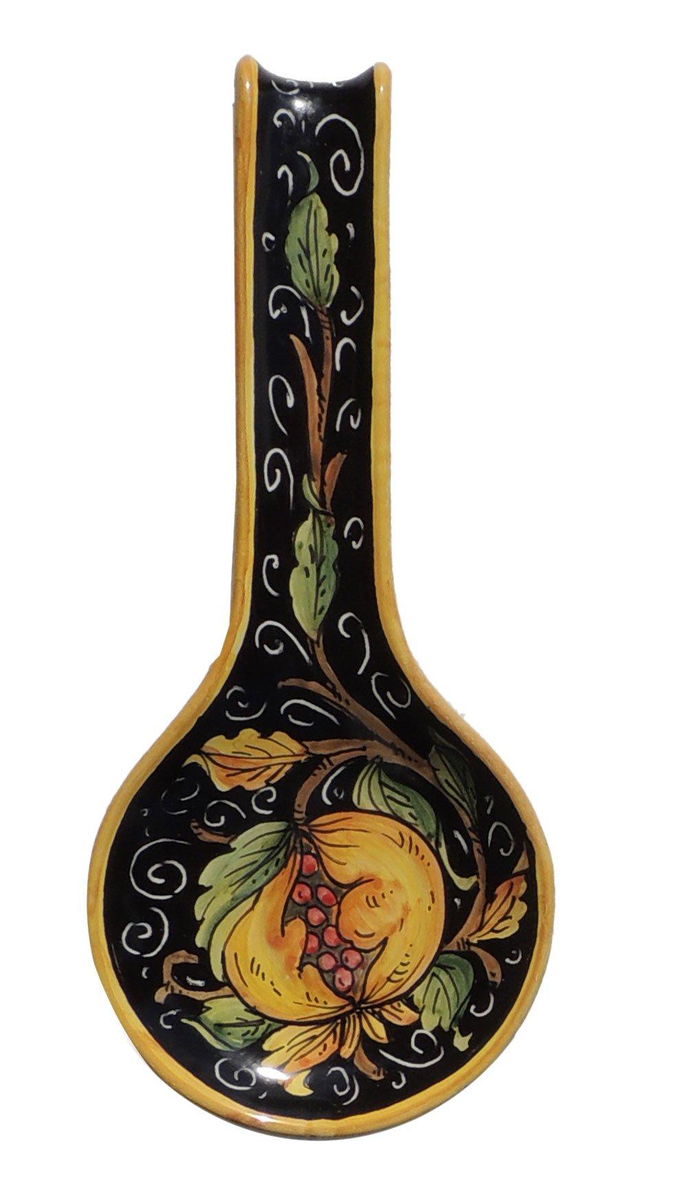 Italian Ceramic Spoonrest - Fig - Bottega degli Artisti by Bottega degli Artisti