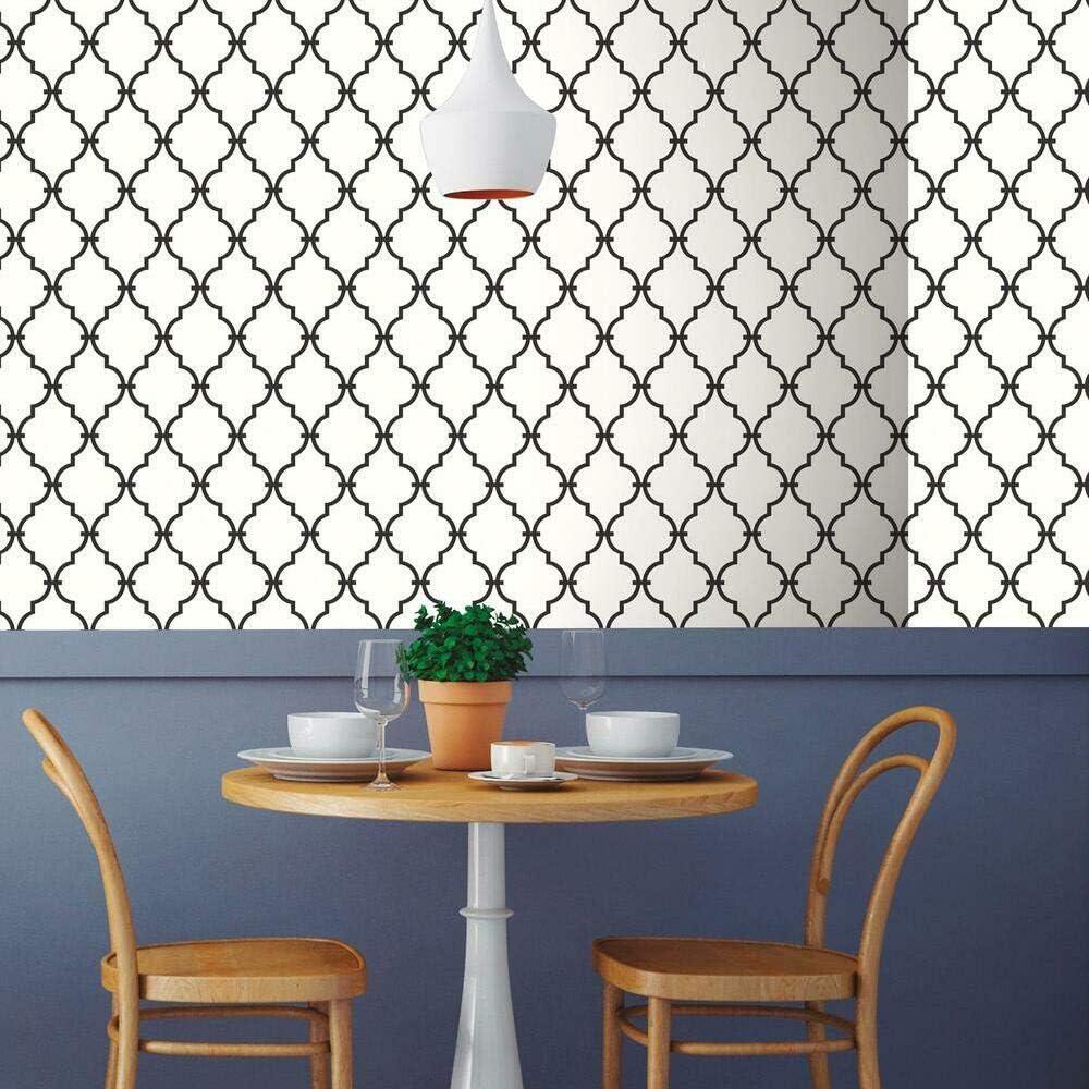 RoomMates Black Modern Trellis Peel and Stick Wallpaper
