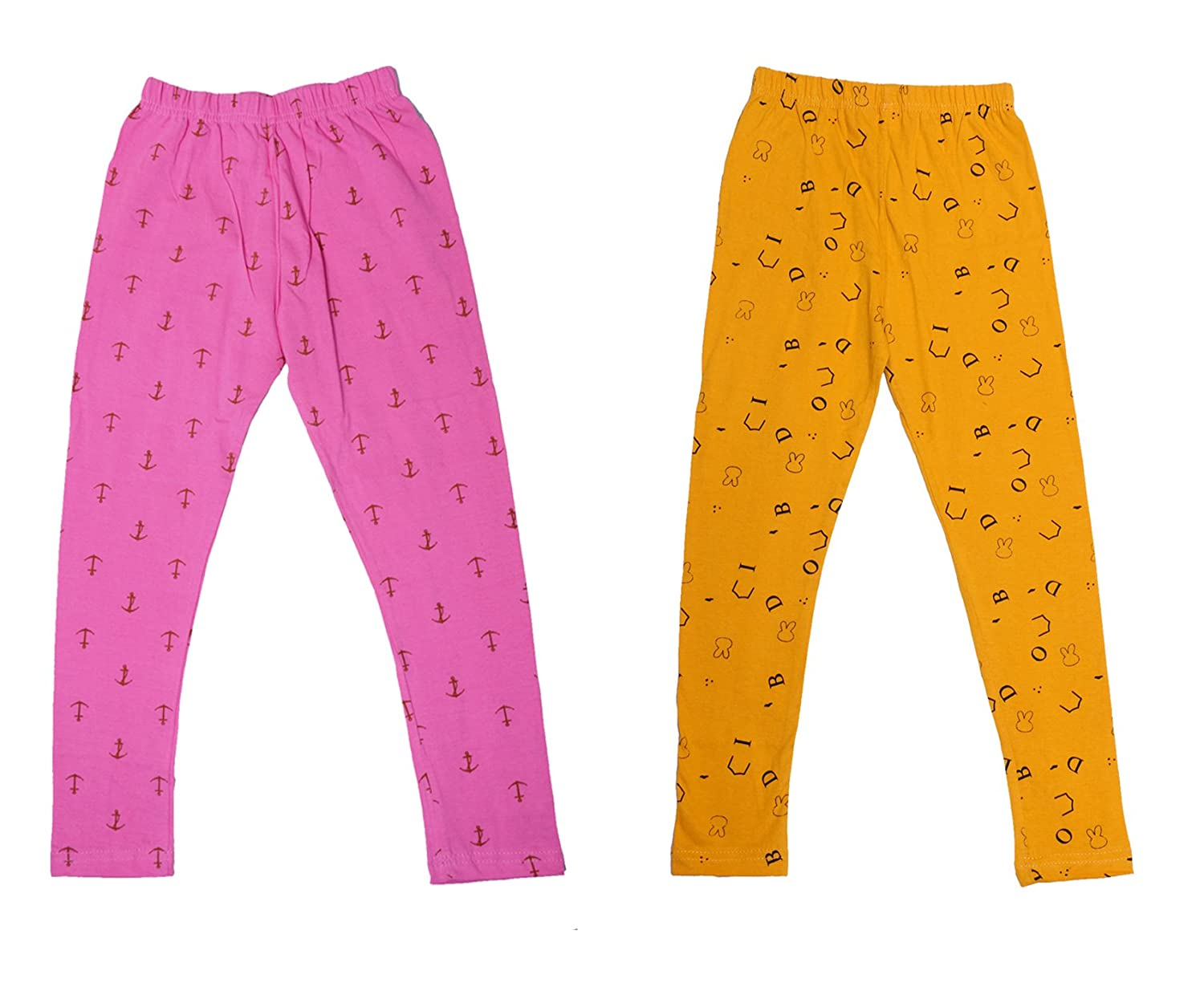 Pack Of 3 Indistar IndiWeaves Girls Super Soft and Stylish Cotton Printed Legging