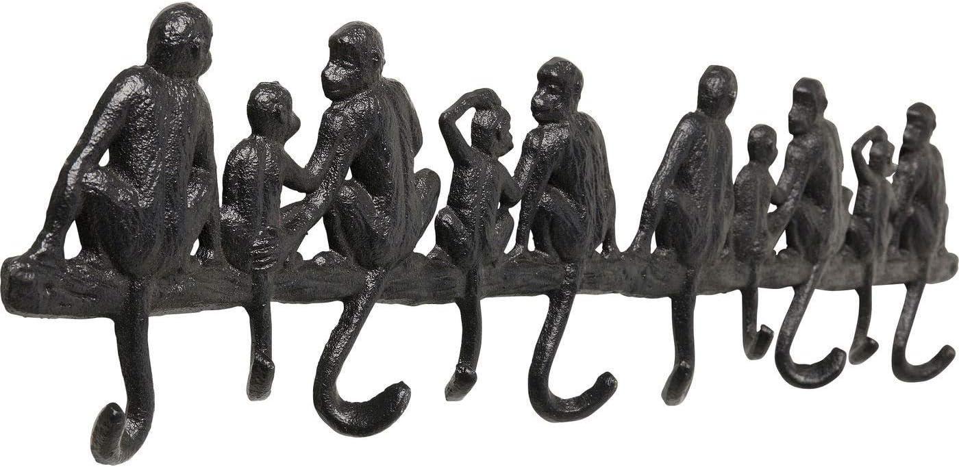 weitere Ausf/ührungen erh/ältlich Kare Design Wandgarderobe Monkey Family Gross 14x61x3cm Garderobe mit Affen Motiv in der Farbe Schwarz H//B//T Garderobe f/ür den Eingangsbereich mit Tiermotiv
