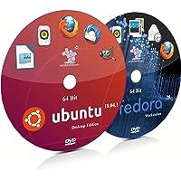 Ubuntu 18.04.1 GNOME and Fedora 28 GNOME 64 Bit Live Bootable Installation DVD