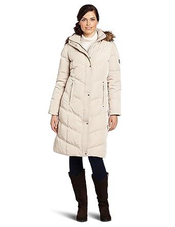 54a4a637c78 Amazon.com  Calvin Klein Women s Faux Fur Trim Down Walker Coat  Clothing