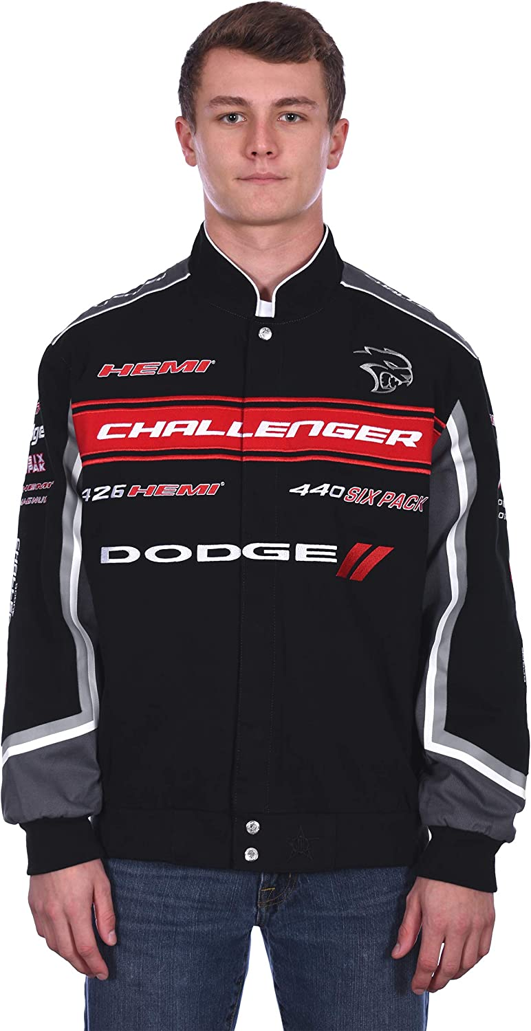 Men's Dodge Challenger Embroidered Cotton Twill Jacket: Clothing