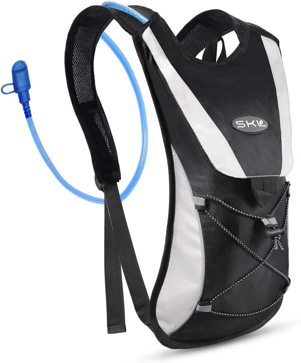 SKL Mochila de hidratación, paquete de hidratación con vejiga de agua de 2 litros, paquete de agua ligero, mochila para actividades al aire libre, ...