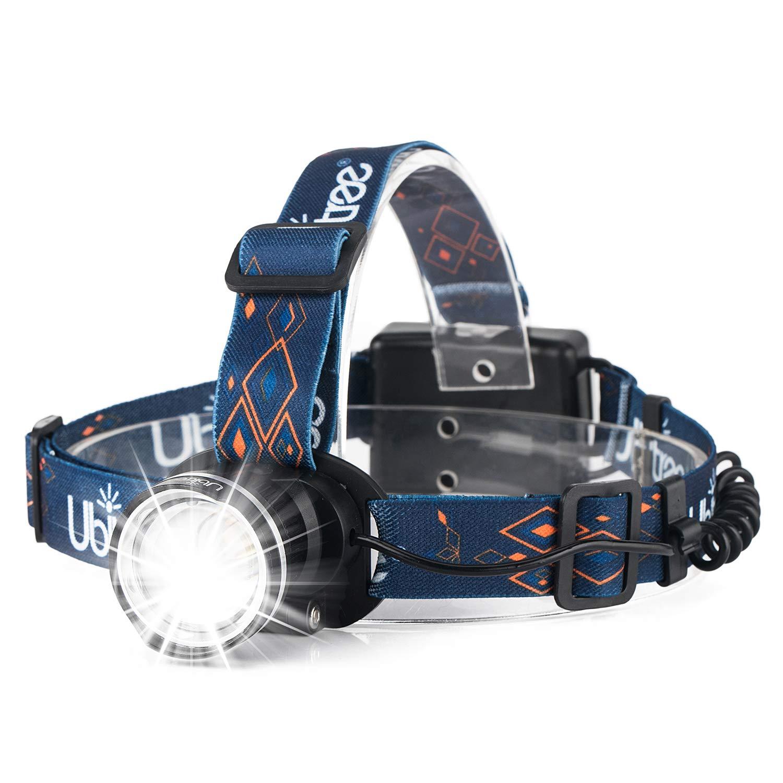 HFAN LED Headlamp Super Bright 1200 Lumens 3 Modes Adjustable Zoomable Waterproof Headlight for Camping, Riding, Running, Night Walking, Fishing, Hunting,Reading,Car Repairing,DIY Works ECT