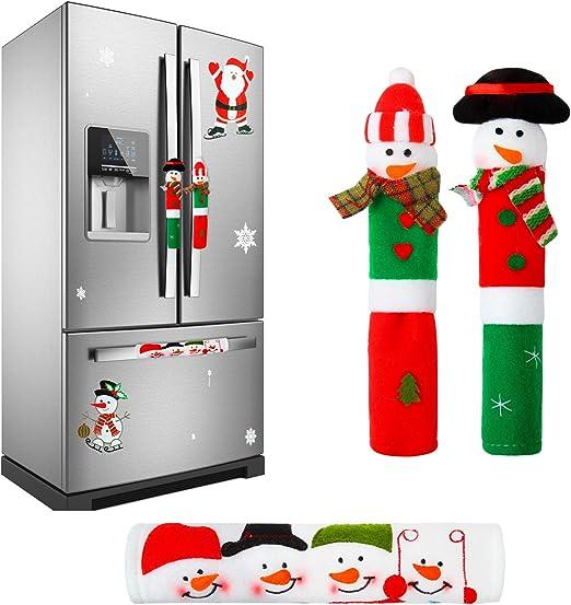Amazon Com Elcoho 3 Pack Adorable Christmas Snowman Kitchen