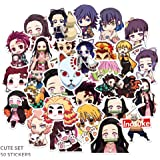 Quero Jom91 2020 New Anime Demon Slayer Graffiti Sticker Skateboard Laptop Luggage Fridge Decals Best Gift for Fans 1