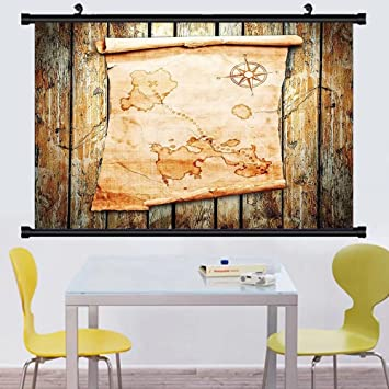 Amazon Gzhihine Wall Scroll Sland Map Decor Collection Treasure Gorgeous Wall Bedroom Decor Concept Collection