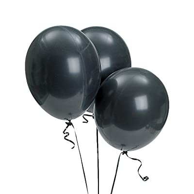 "Fun Express - 11"" Onyx Black Balloons for Party - Party Decor - Balloons - Latex Balloons - Party - 144 Pieces: Toys & Games"