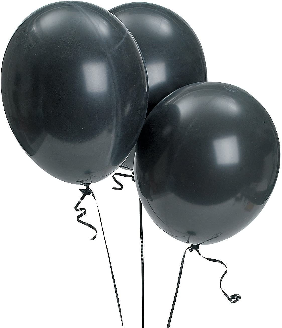 "11/"" Black Latex Party Balloons"