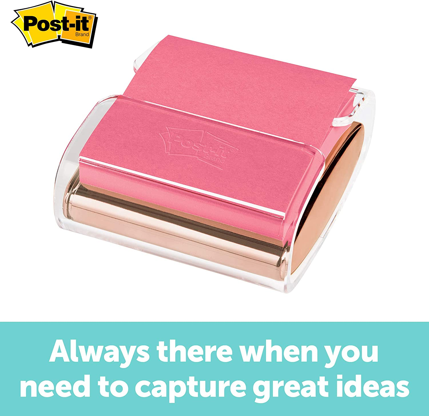Post-it Pop-up Note Dispenser, Rose Gold, 3 in x 3 in, 1 Dispenser/Pack (WD-330-RG)