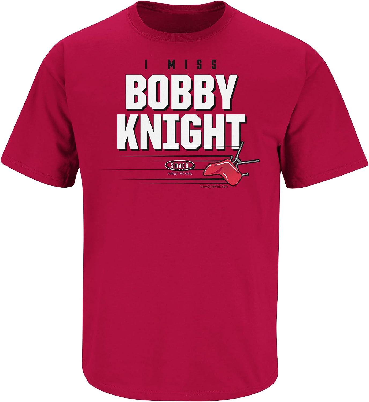 I Miss Bobby Knight Cardinal T-Shirt Sm-5X Smack Apparel Indiana Basketball Fans