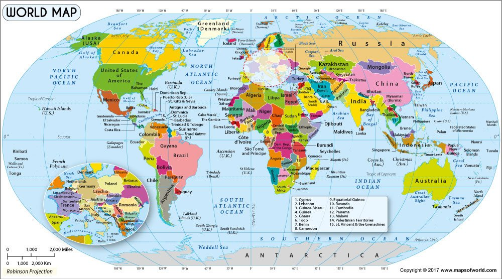 Amazon world map in robinson projection 36 w x 199 h amazon world map in robinson projection 36 w x 199 h office products gumiabroncs Image collections