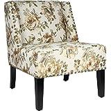 Joveco Printing Nailhead Trim Fabric Leisure Chair