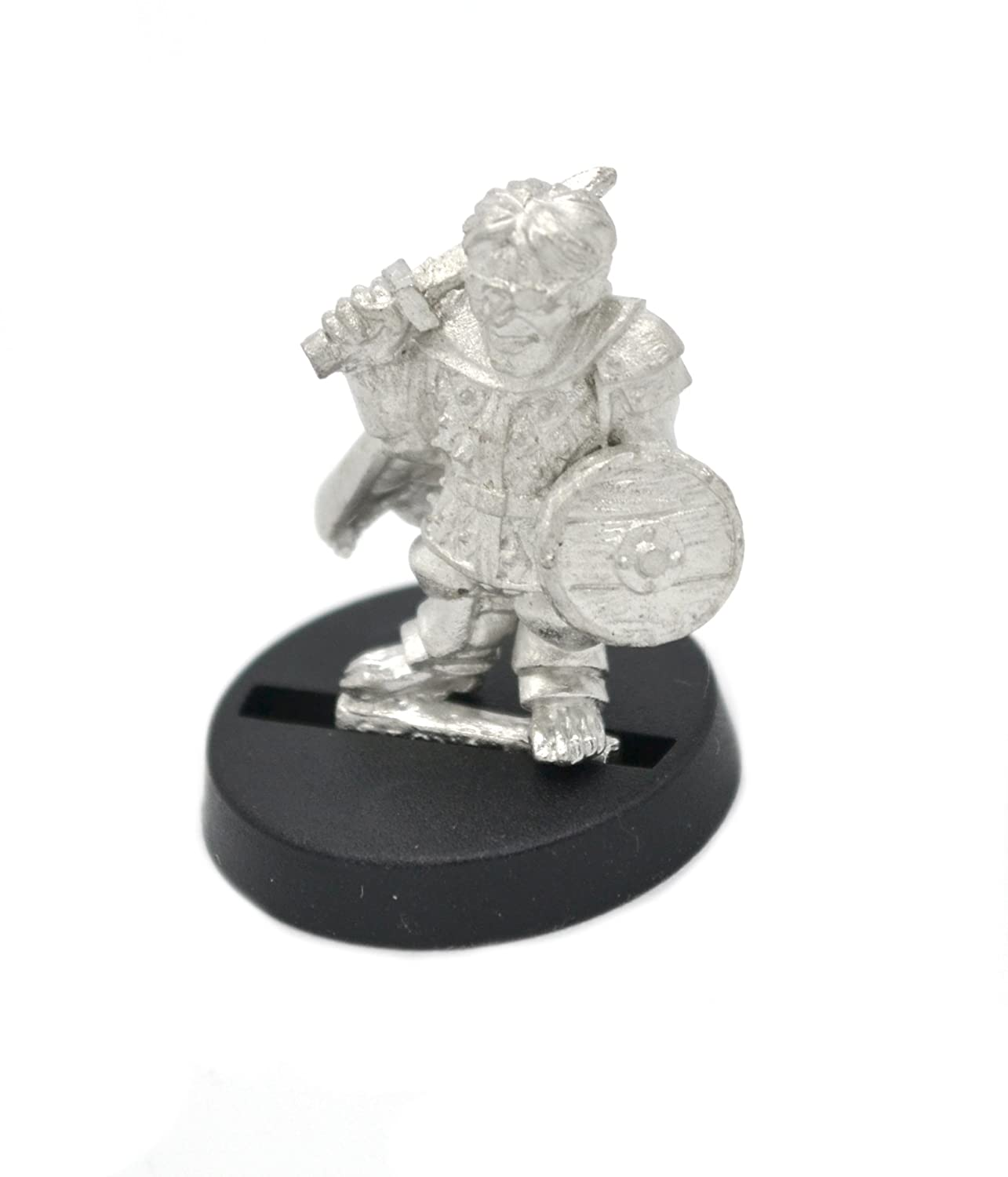 for 28mm Scale Table Top War Games Stonehaven Halfling Soldier with Glasses Miniature Figure Made in USA