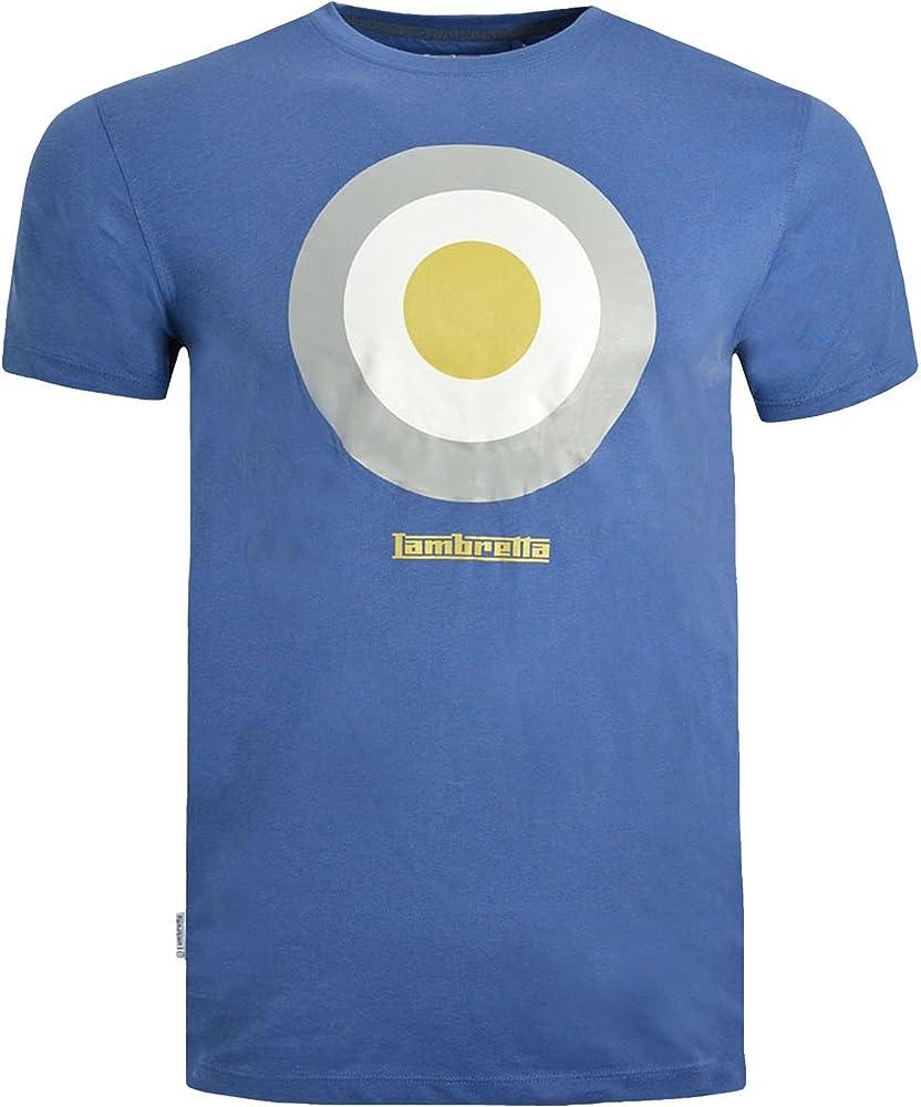 Lambretta - Camiseta - Manga Corta - para Hombre Azul Azul Medium: Amazon.es: Ropa y accesorios