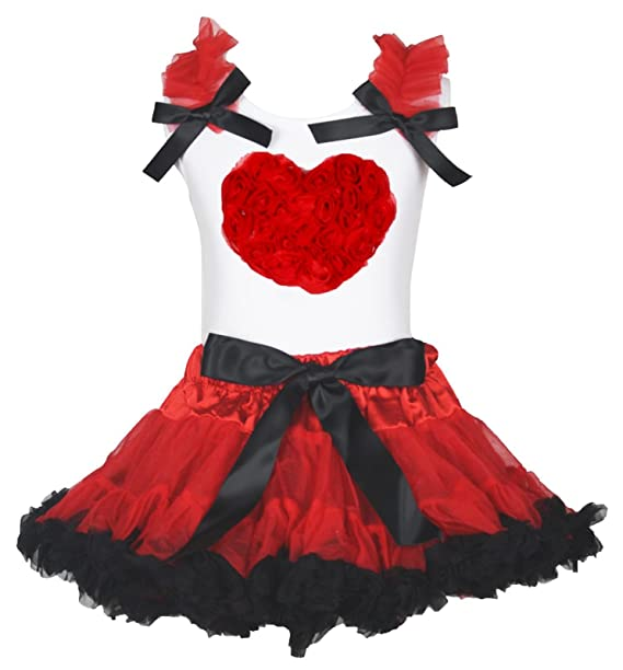Saint Valentin robe cœur floral blanc en coton pour homme Noir rouge jupe  fille Costume 1-8Y  Amazon.fr  Vêtements et accessoires f848eebc161