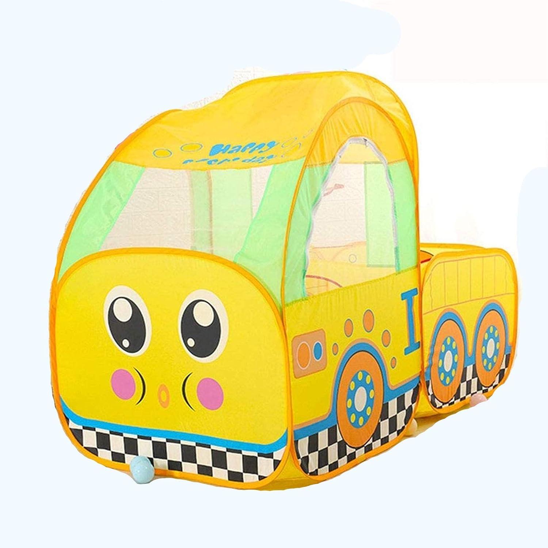 ZYCH Castillo Pequeño Tren Tienda Plegable Castillo Princesa para Niños Niñas Fácil de Montar y Guardar Sistema Pop-up Juguete Infantil Castillos de Juguete Tiendas de Campaña Juguetes