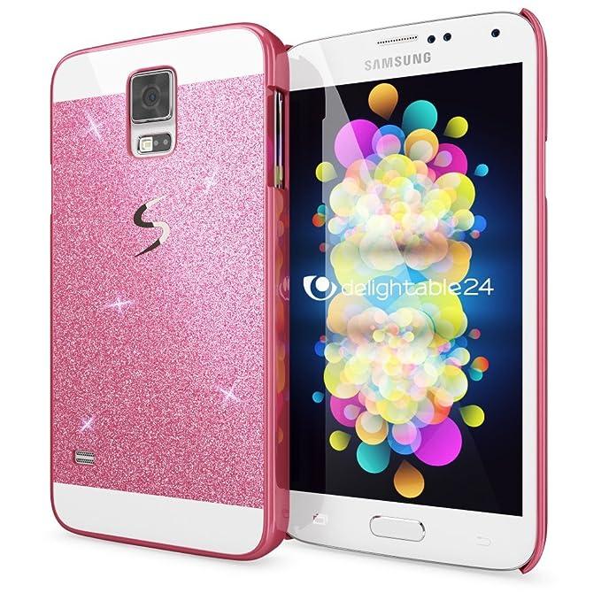 8 opinioni per NALIA Custodia Protezione per Samsung Galaxy S5 S5 Neo, Glitter Hard-Case