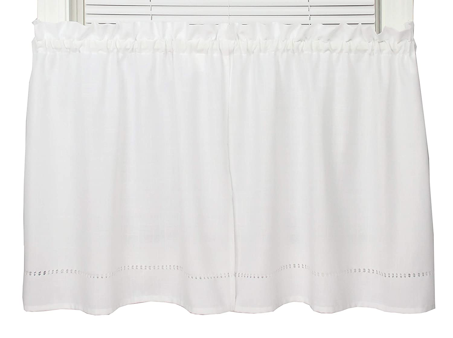 """Moments Embroidered Tier Curtain (58"""" W x 30"""" L)"""