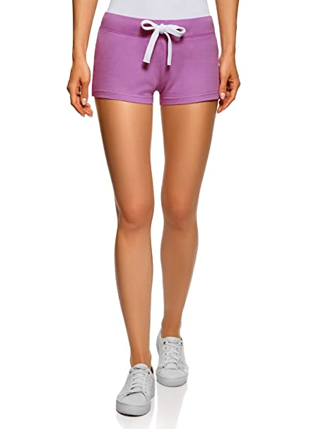 oodji Ultra Damen Jersey-Shorts Basic  Amazon.de  Bekleidung 56363088f8