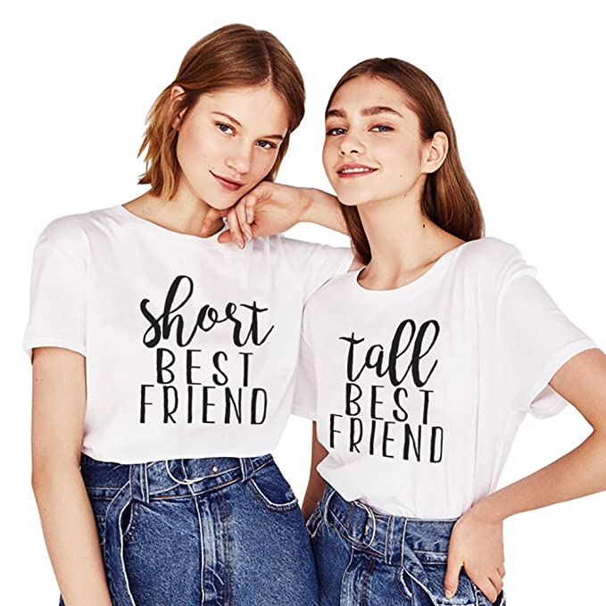 Mejores Amigas Shirts Algodón Impresión Camiseta Best Friend 2