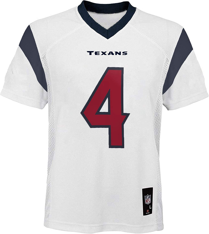 OuterStuff Deshaun Watson Houston Texans #4 White Youth Away Mid Tier Jersey