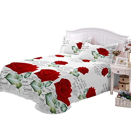 King Size Sheets, 3D Printed 4pcs King Fitted Sheet, Bed Sheets King Size  With