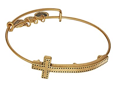 e823847113f796 Alex and Ani Women's Spiritual Armor Cross Bangle Bracelet, Rafaelian Gold