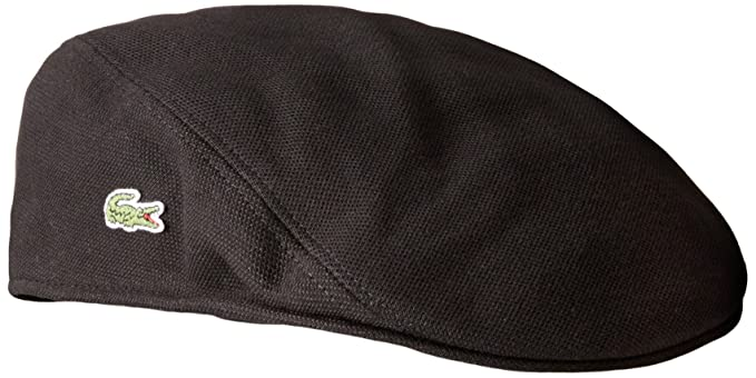 eca41d38a3f0 Lacoste Men s Pique Cotton Flat Cap at Amazon Men s Clothing store