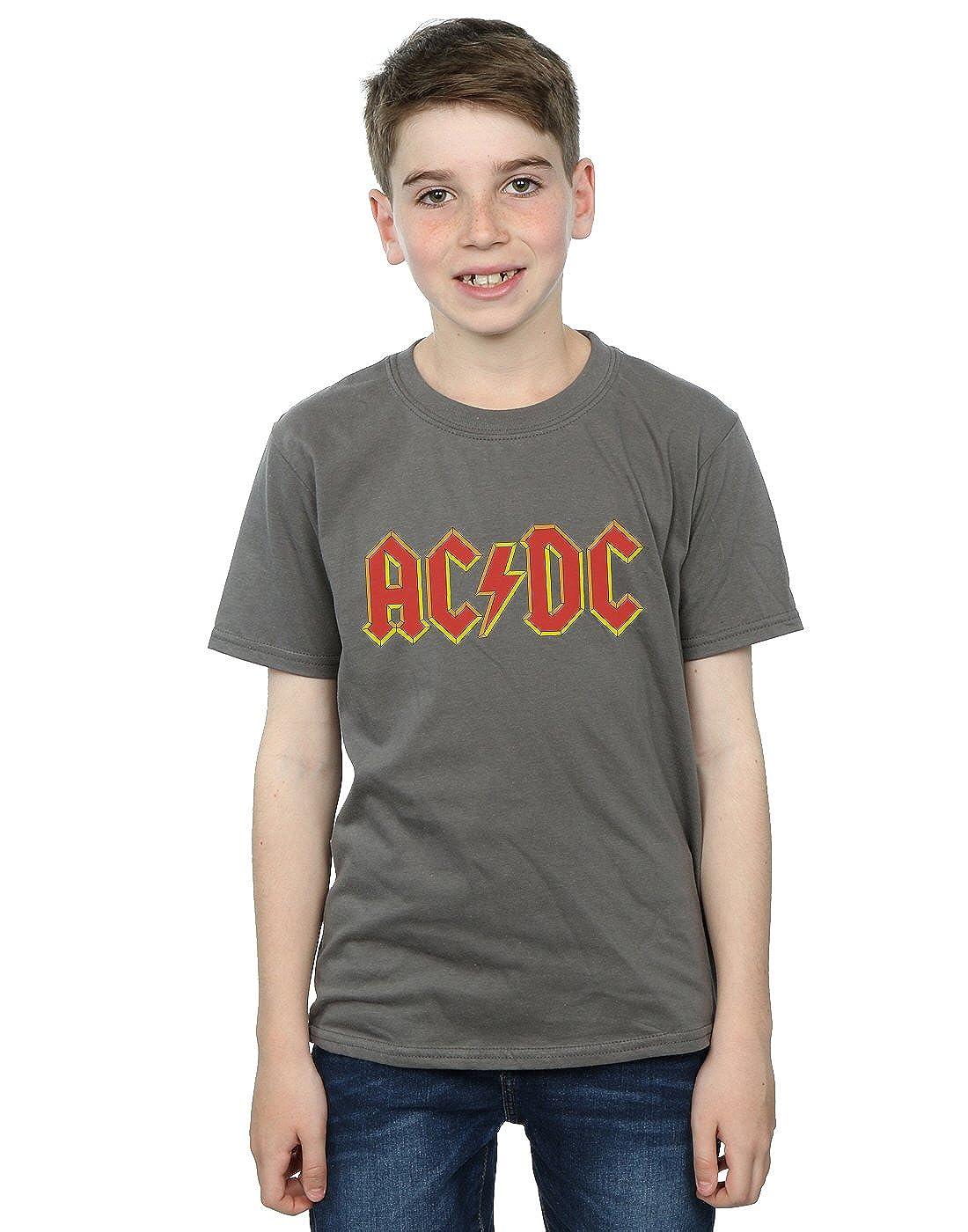 AC/DC Jungen Red Logo T-Shirt Absolute Cult