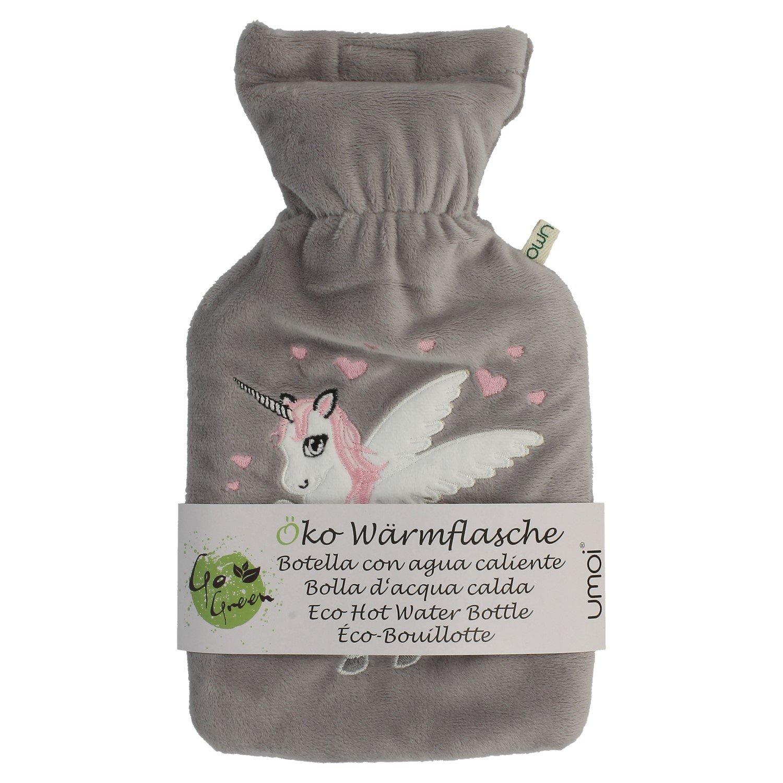 umoi Certificado Unicornio Agua Caliente 1L, con tejido polar gris funda bs1970: 2012Certificado
