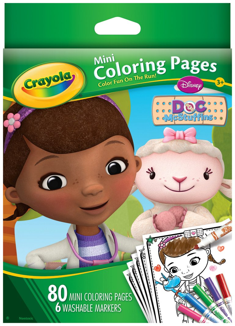 amazoncom crayola doc mcstuffins mini coloring pages toys games