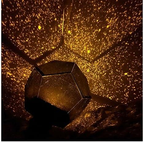 Romantic Astro Planetarium Star Celestial Projector Cosmos Light Night Sky Lamp gold