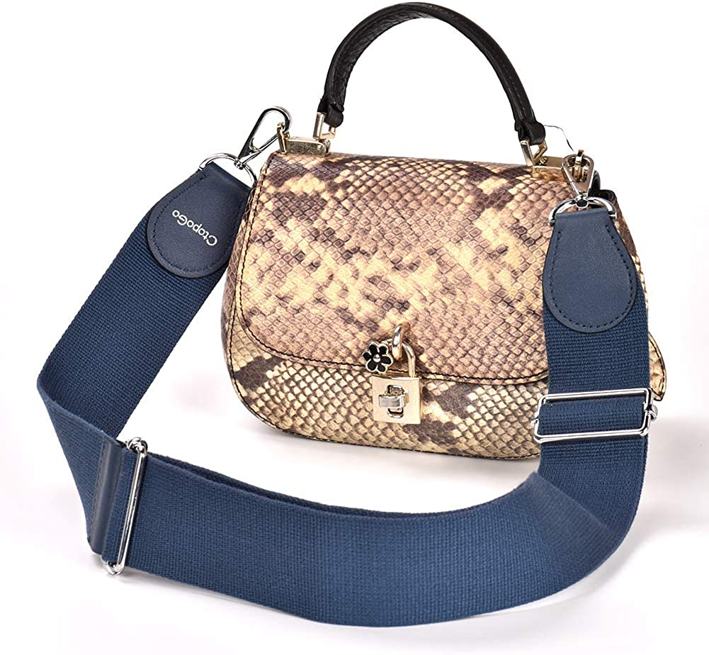 Adjustable Replacement Bag Strap with Metal Swivel Hooks Soft Purse Straps Shoulder Bag Strap Belt DIY Messenger Bag Changeable Strap for Cross body Handbag CtopoGo Shoulder bags strap