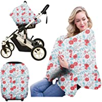 Nursing Breastfeeding Cover Scarf-Organic Cotton Baby Car Seat Canopy, Shopping Cart, Stroller, Car seat Covers