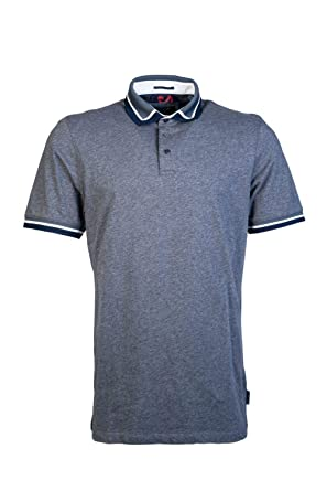 940d160db Ted Baker Gummy SS Collar Detail Polo Shirt Blue  Amazon.co.uk  Clothing