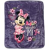 Disneys Minnie Mouse Plush Throw Blanket, Adorable Me, 60x80 inches