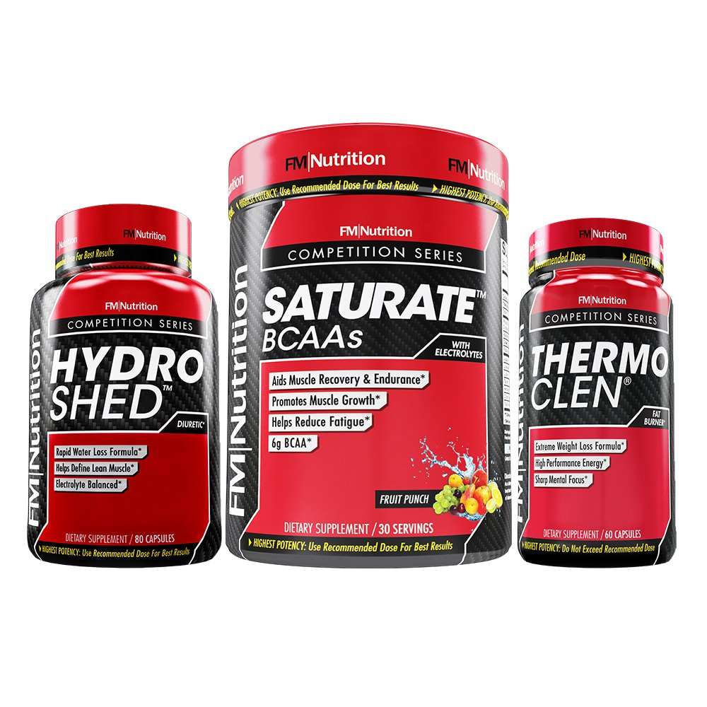 Weight Loss & Recovery Pack - ThermoClen, fat burner and appetite suppresant. HydroShed, diuretic. Saturate BCAAs, post workout muscle recovery and fatigue reduction.