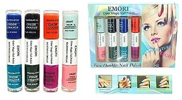 Amazon.com: Color Changing Nail Polish - 8 Colors in 4 Dual Nail ...