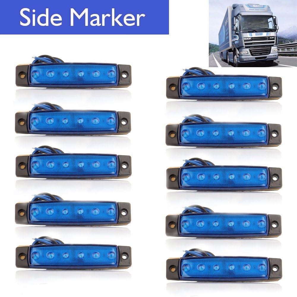 Rear Side Marker Lamp RV Marker light Trailer Marker Lights Cab Marker Eaglerich 10pcs 24v 3.8 6 LED yellow Side Marker Lights Led Marker Lights for Trucks