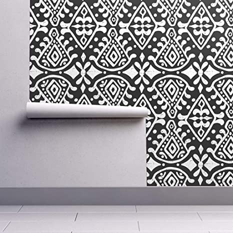 Peel-and-Stick Removable Wallpaper - Zara Jumbo Scale Black & White Geometric by