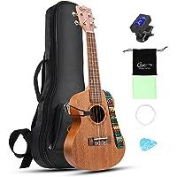 Hricane Concert Ukulele UKM-2 23inch Professional Mahogany Ukulele Hawaiian Guitar Pack with Gig Bag