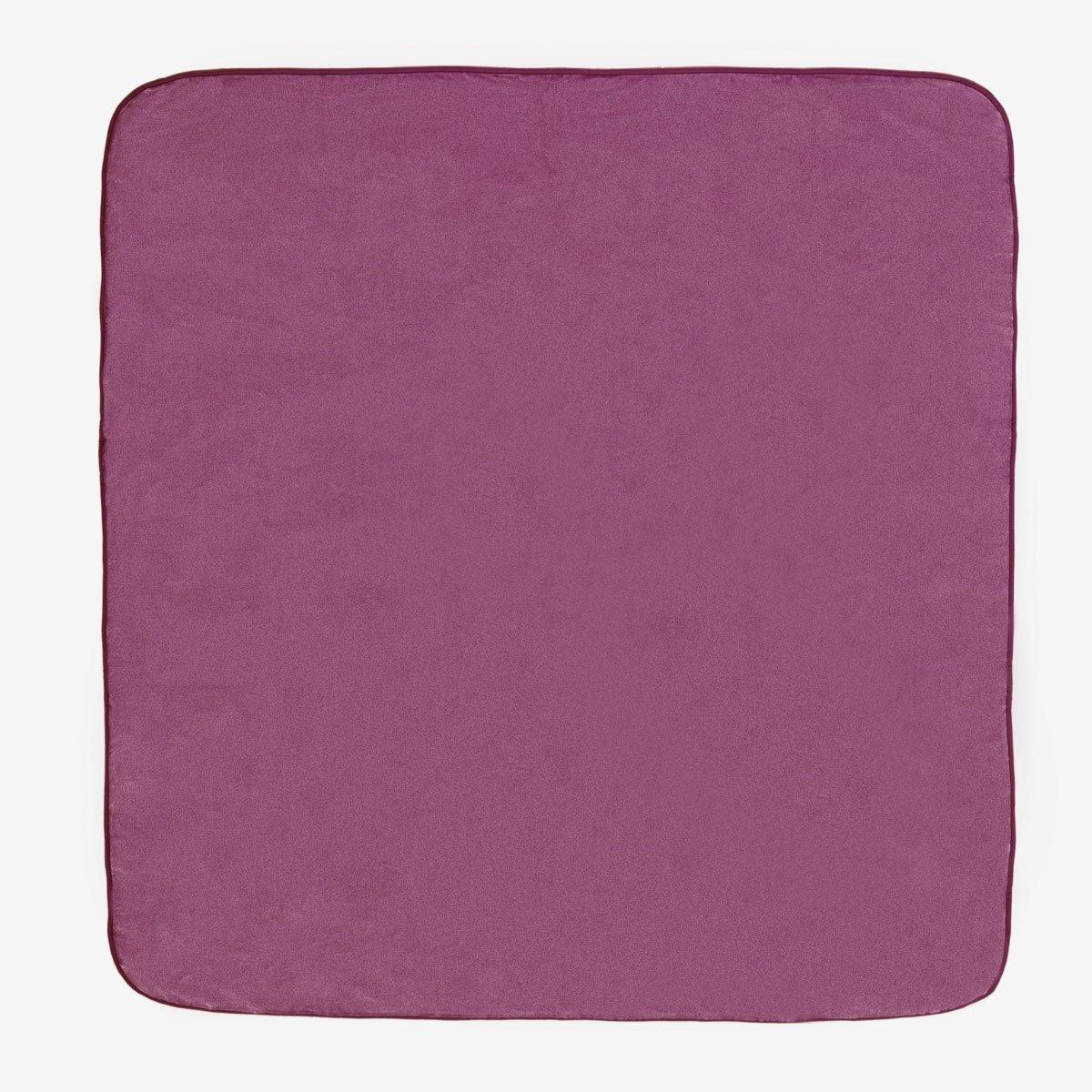 Sancarlos OSLO - Manta Lisa de Terciopelo Suave, Color Morado, Cama de 90 cm, 160x240 cm